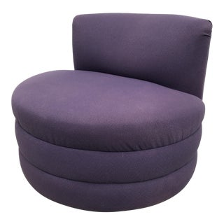 Modern Upholstered Swivel Chair For Sale