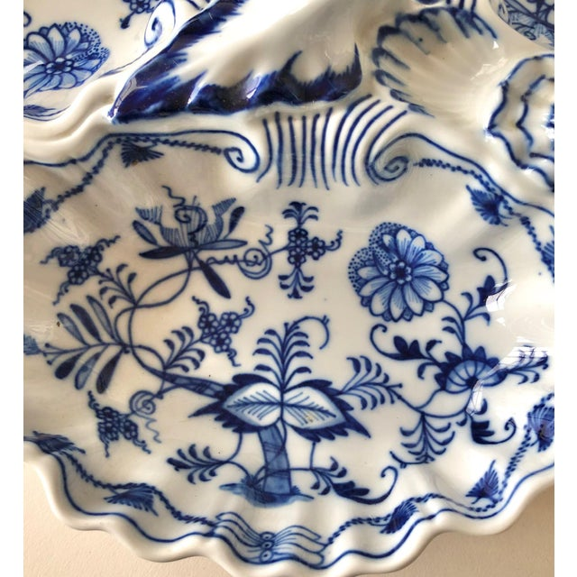 Antique Porcelain Triple Server Tray After Meissen For Sale In New York - Image 6 of 11