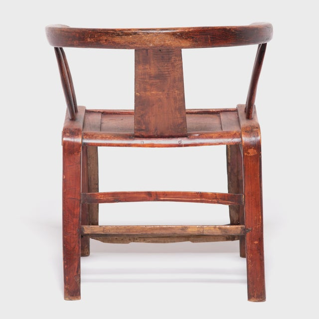 19th Century Chinese Bentwood Roundback Chair For Sale - Image 4 of 7