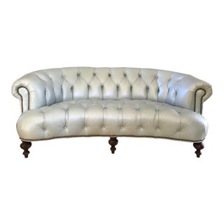 Modern Tufted Leather Sofa For Sale