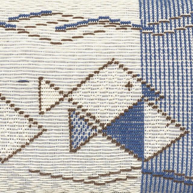 "Schumacher Schumacher Artiganale Italian Hand Woven Mediterraneo Blue 49"" Floor Pillow For Sale - Image 4 of 5"