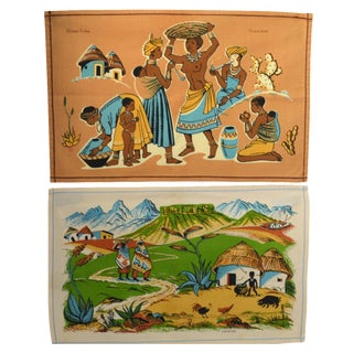 Vintage South African Placemats - Set of 2 For Sale