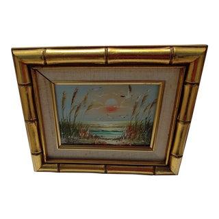"""Birds and Sea"" Vintage Oil Painting by Bernard Duggan For Sale"
