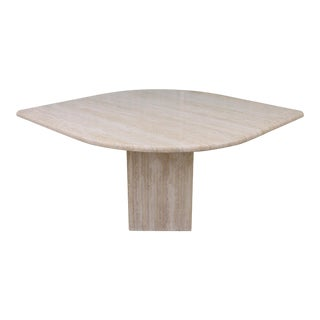 Mid Century Italian Travertine Dining Table For Sale