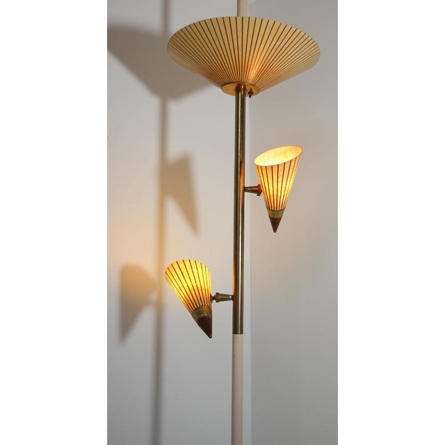 1950s Adjustable Vintage Three Shades Extension Pole Lamp by Gerald Thurston For Sale - Image 10 of 13