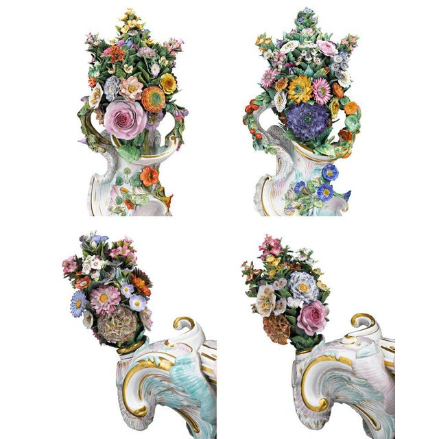 Meissen Autumn and Summer Porcelain Urns For Sale In New Orleans - Image 6 of 7