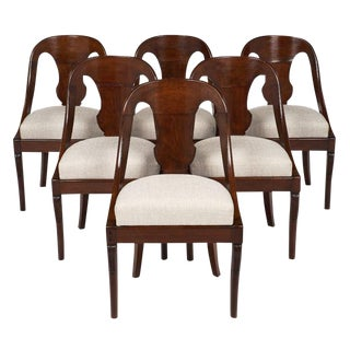 Set of Six Gondola Dining Chairs For Sale