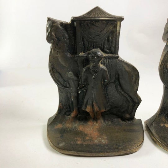North African Mid-Century Brass Bookends - a Pair For Sale - Image 4 of 5