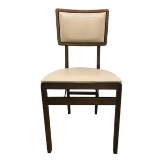 Stakmore Folding Walnut Side Chair For Sale