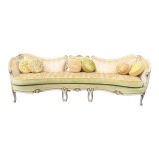 Vintage Italian Provincial Baroque Style Sofa