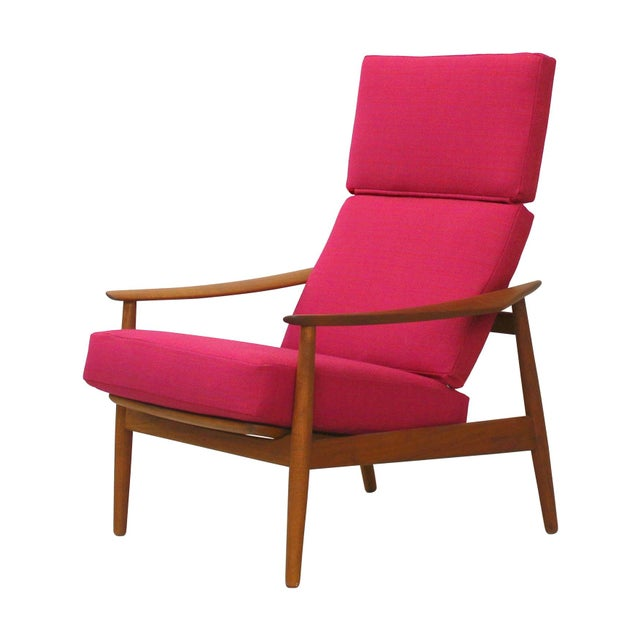 Danish Teak Lounge Chair Arne Vodder France & Son For Sale