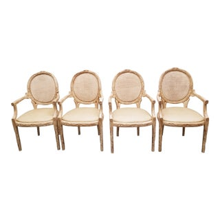 Faux Bois Chairs - Set of 4