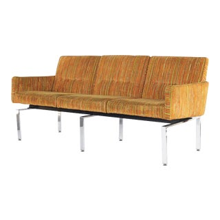 Mid Century Modern Chrome Base Sofa Couch For Sale