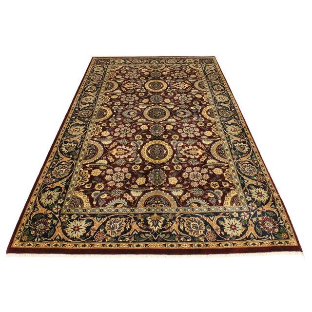 Agra Tabriz 16x18 Veg. Pak-Persian Lisabeth Purple/Blue Wool Rug - 4'7 X 7'3 For Sale In New York - Image 6 of 8