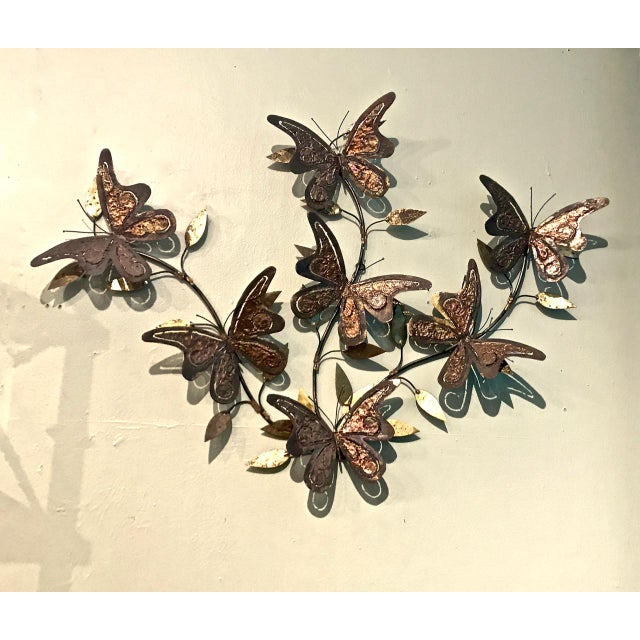 1970s 1970's Vintage Curtis Jere-Style Butterfly Wall Sculpture For Sale - Image 5 of 5