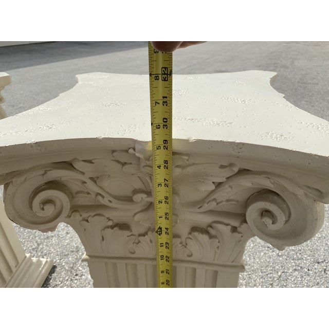 1980s Corinthian Acanthus Roman Dining Table Greek Table Base - 2 Pieces For Sale - Image 9 of 10