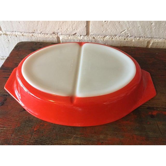 Vintage Pyrex Friendship Divided Casserole Dish - Image 6 of 11
