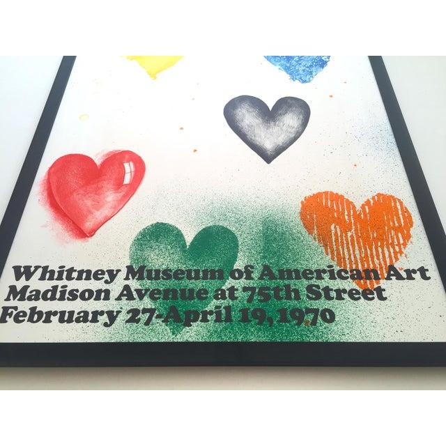 Black Jim Dine Rare Vintage 1970 Framed Silkscreen Print Whitney Museum Collector's Pop Art Exhibition Poster For Sale - Image 8 of 13