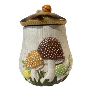 Vintage Mid-Century Arnels Ceramic Mushroom Cookie Jar For Sale