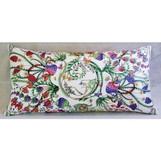 Italian Designer Italian Gucci Floral Fanni Silk Pillow For Sale - Image 3 of 11