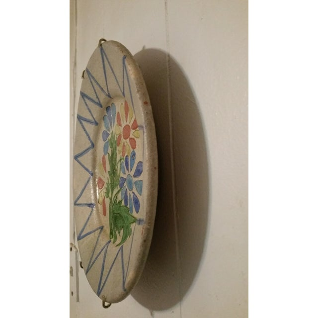 Vintage Decorative Portuguese Floral Plate - Image 4 of 7