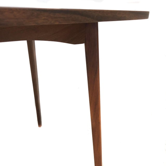 Wood Mid Century Modern Mel Smilow Dining Table With Two Leaves For Sale - Image 7 of 9