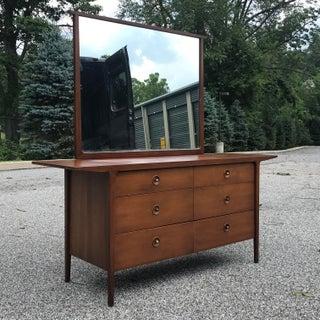 1956 Mid Century Modern John Van Koert Drexel Counterpoint Dresser & Mirror Preview