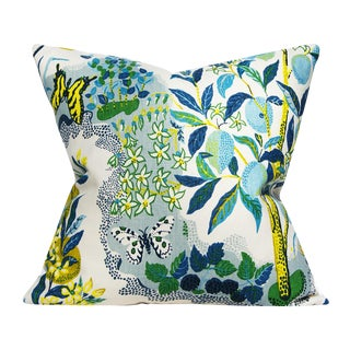 Cottage Schumacher Citrus Garden in Pool by Josef Frank Pillow Cover For Sale