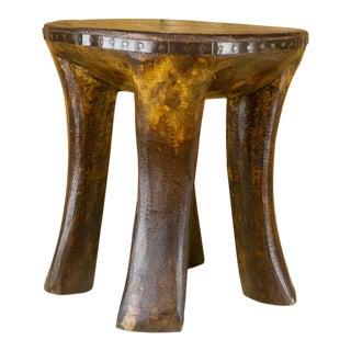 Bria Tribal Naga Wooden Stool For Sale