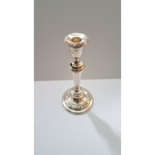 Gorham Antique Silver on Copper 3 Light Twisted Convertible Candelabra. This Beautiful Antique will Enhance Wherever You...