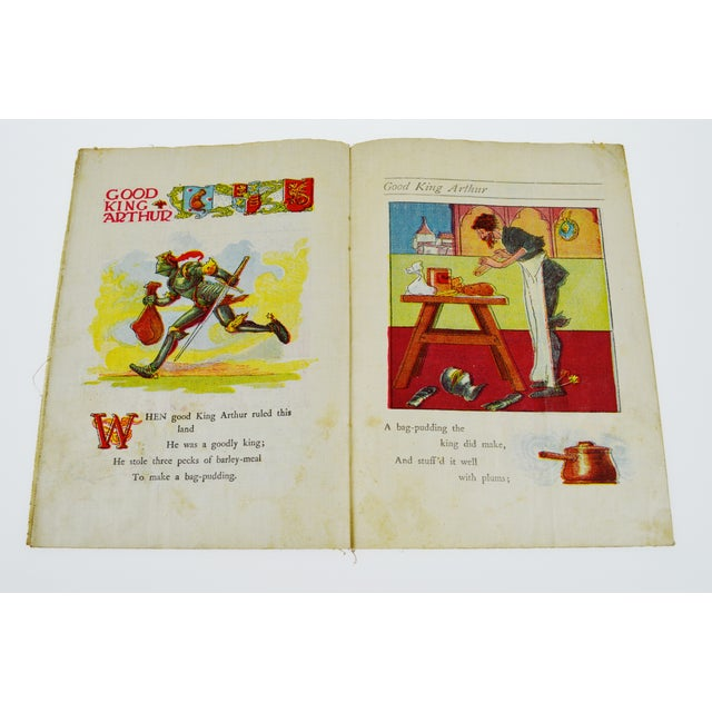"Paper McLoughlin Bros. ""Jack and Jill"" Children's Linen Book For Sale - Image 7 of 13"