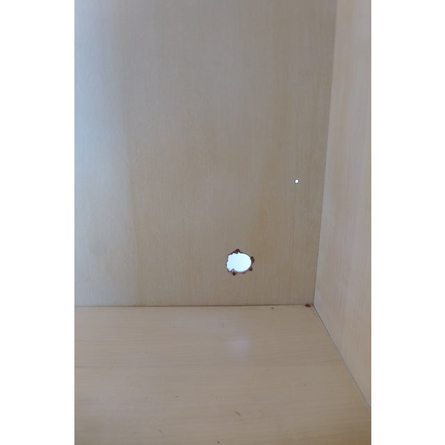 Modern Split Reed Lighted Cabinets - A Pair - Image 6 of 11