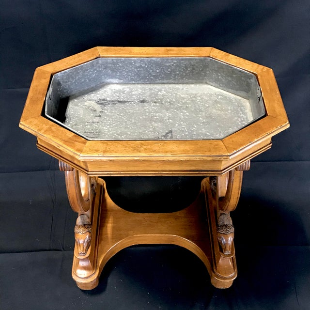 Mid 19th Century Antique French Hand Carved Sheepshead Walnut Planter Table For Sale - Image 5 of 11