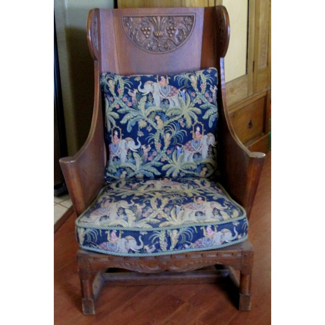 I have never seen such an interesting piece! I bought it since I had never seen a WOODEN Wing Back chair before! It has a...