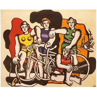 "1948 Fernand Léger Original Period ""Beautiful Cyclists"" Lithograph From Paris For Sale"