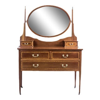 19th Century English Vanity Table, Signed Maple & Co. For Sale
