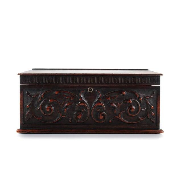 19th Century Carved Mahogany Humidor C.1880s - Image 2 of 9