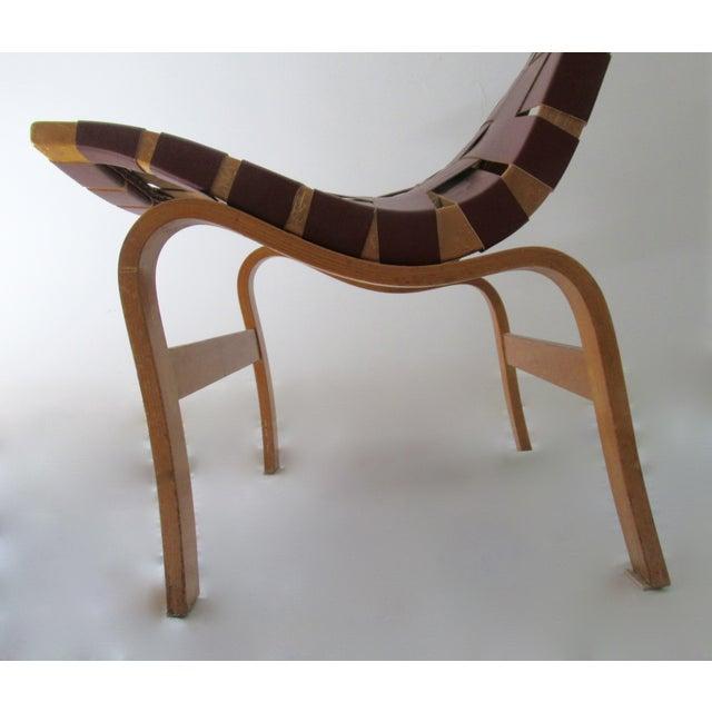 "Orange Final Markdown: 1940-49 Vintage Bruno Mathsson Mid-Century Modern Scandinavian ""Eva"" Easy Chairs - a Pair For Sale - Image 8 of 13"