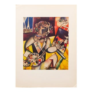 "1940s Marc Chagall, Original ""Self-Portrait With Seven Fingers"" Period Lithograph For Sale"