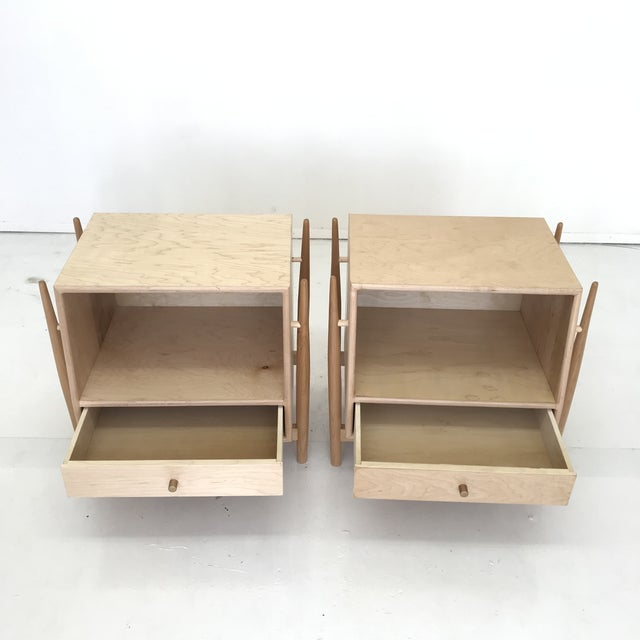 Not Yet Made - Made To Order Handmade Sculptural Nighstands in Maple For Sale - Image 5 of 13