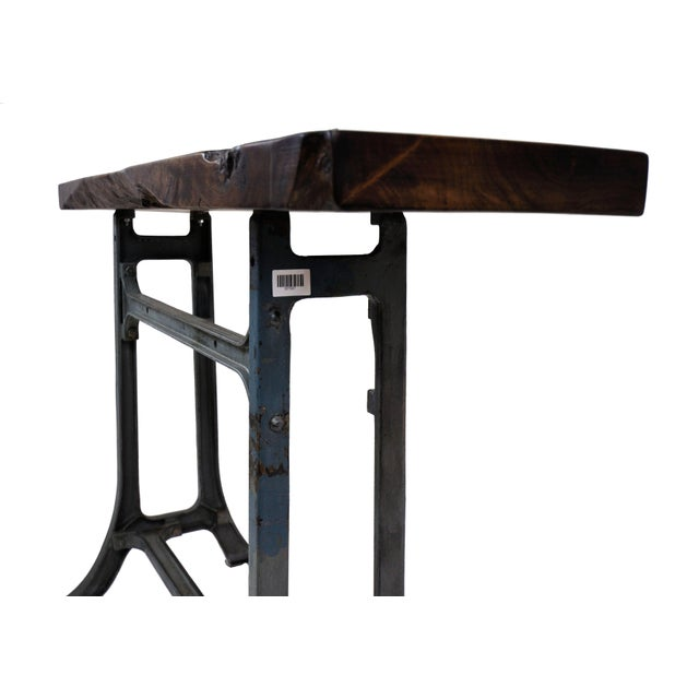 Handmade Walnut & Steel Console Table - Image 5 of 10