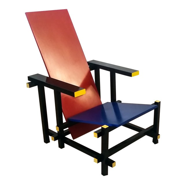 Red & Blue Chair After Gerrit Rietveld - Image 1 of 5