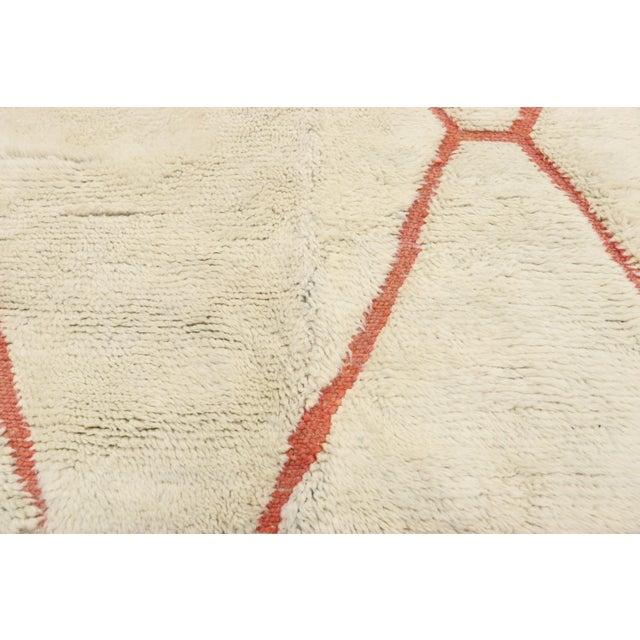 Berber Tribes of Morocco Organic Modern Style Berber Moroccan Rug - 05'05 X 07'02 For Sale - Image 4 of 10