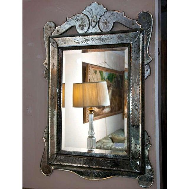 Venetian Glass Wall Mirror - Image 6 of 6