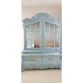 Drexel Heritage Blue Display Cabinet Preview