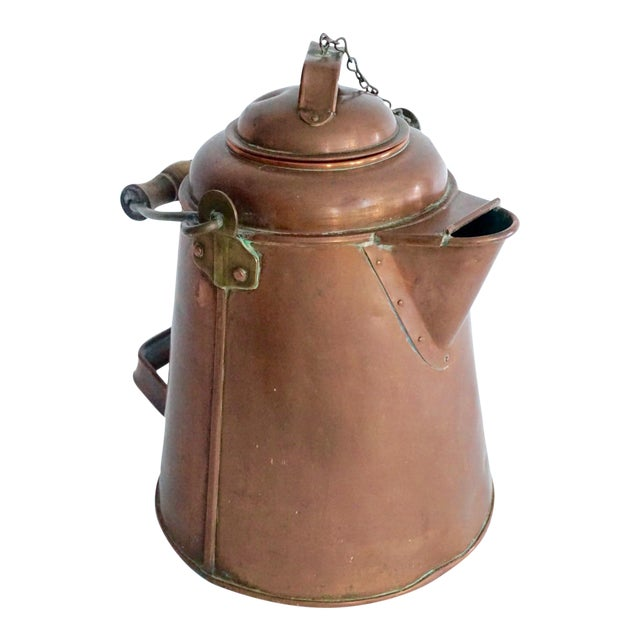 Antique Copper & Brass Kettle - Image 1 of 11