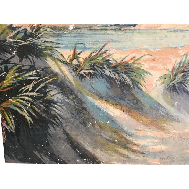 1970s Vintage Seascape Paiting For Sale - Image 4 of 5