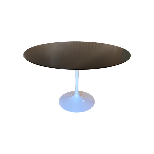 Eero Saarinen For Knoll Tulip Dining Table Chairish - Saarinen outdoor dining table