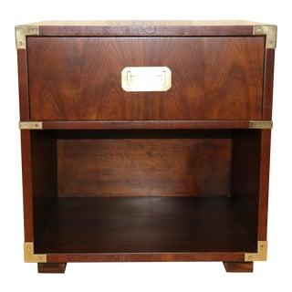 1970s Henredon Single Drawer Nightstand For Sale