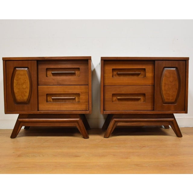 Young Walnut Nightstands - Pair - Image 2 of 10